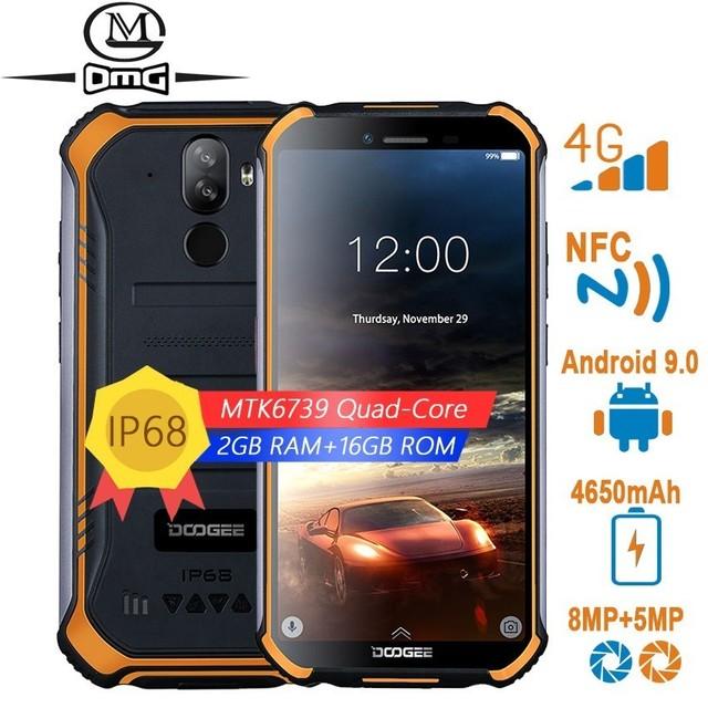 "DOOGEE S40 לייט NFC הסלולר מוקשח עמיד הלם נייד טלפון סלולרי אנדרואיד 9.0 4G smartphone 5.5 ""MTK6739 Quad Core טלפונים"