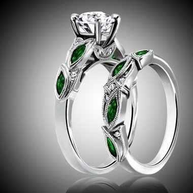 เงิน 925 แหวนเพชรสีเขียวมรกต Bizuteria สำหรับผู้หญิง Amethyst Anillos De Bague Etoile Diamante เครื่องประดับแหวนพลอย
