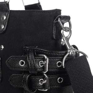 Image 5 - Rock Style Rivet Borsa Delle Donne di Modo Punk casual Tote Catena Della Chiusura Lampo Femminile Del Motociclo di Spalla di Crossbody Bag