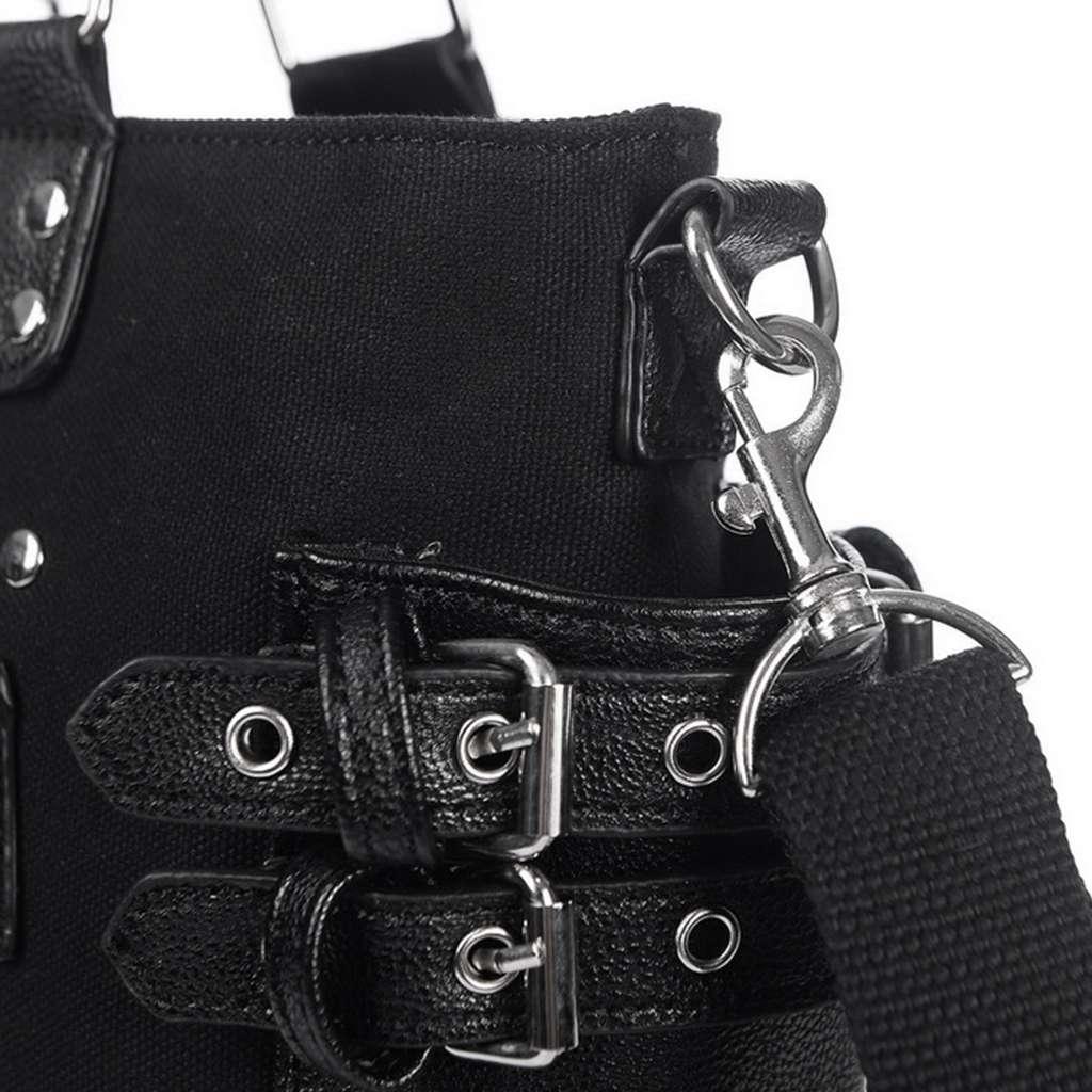 Image 5 - Rock Style Rivet Handbag Fashion Women Punk Casual Tote Zipper  Chain Female Motorcycle Shoulder Crossbody BagShoulder Bags   -