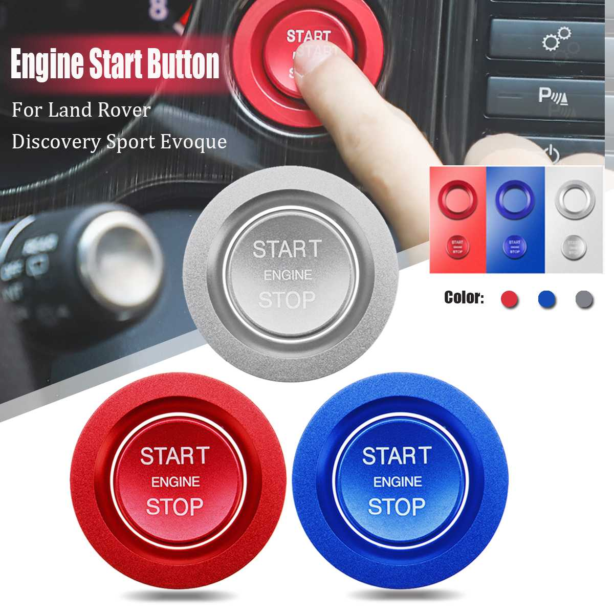 For Land Rover Discovery Sport Evoque Auto Engine Start Stop Button System Cover Car Styling Stickers Ring Case Accessories