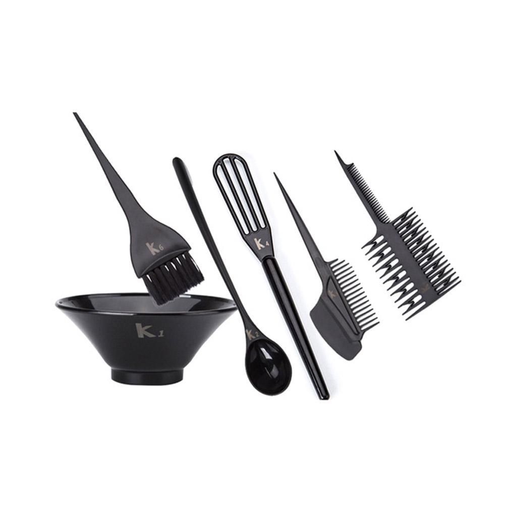 BellyLady 6 Pcs/set Hair Dye Tool Kit Hair Color Cream Mixer Set Salon Hair Coloring Bowl Brush
