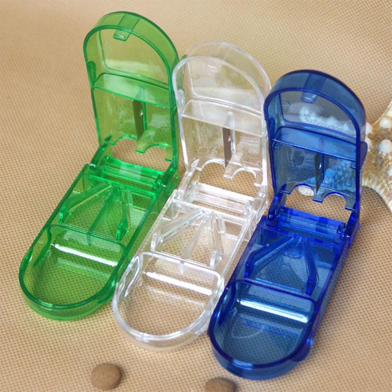 Portable Pill Cutter Box Convenient Storage Box Tablet Cutter Splitter Medicine Pill Holder Pill Cutter Pill box pillendoosje