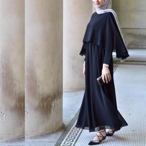 Image 4 - Arabischen Vestidos 2019 Lange UAE Abaya Dubai Kaftan Kimono Leinen Maxi Muslimischen Schal Bodycon Hijab Kleid Frauen Türkisch Islamische Kleidung