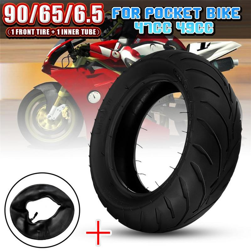 Durable Wheels Anti Explosion Solid Rubber Tyre Front Rear Tire With Inner Tube For 47cc 49cc Mini Pocket Bike