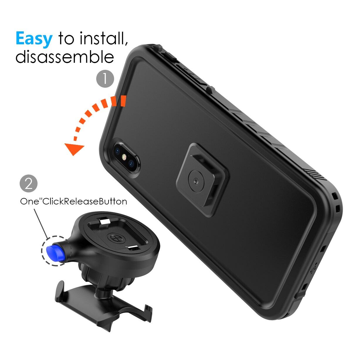 Image 4 - Bike Mount Phone Case For iPhone Xs Max Case Rotating Bicycle Handlebar Mount Holder phone cover For iPhone XS Max ShockproofFitted Cases   -