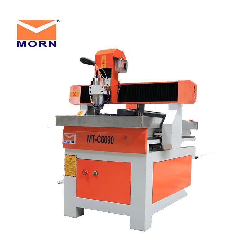 CNC Corte A Laser e Máquina de Gravura 6090 CNC Router 1.5kw Spindle Motor Desktop Mini Máquina de Gravura 3D