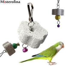 Parrot Toys Harness Bird Squirel Chew Bite Scratcher Bell Toy Teeth Grinding Clean Tool Parakeet Cockatiel Budgie XP0538(China)