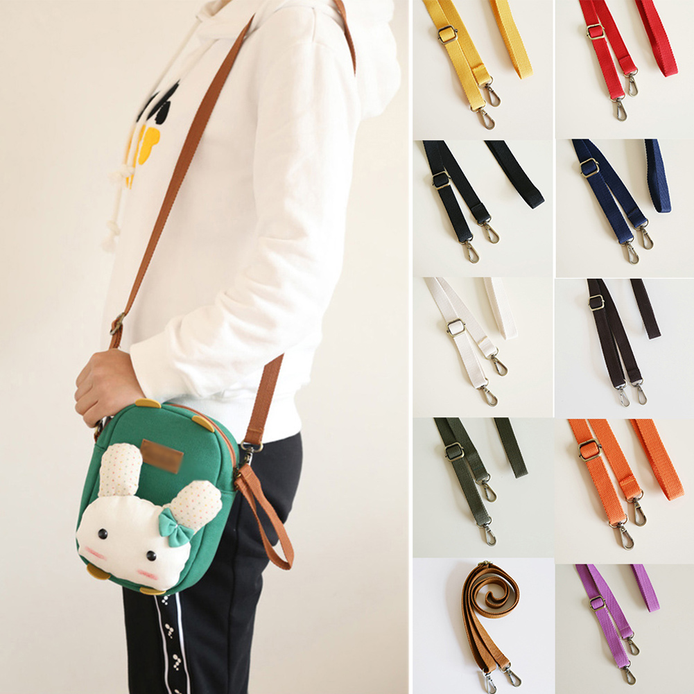 Fashion 130cm Canvas Bag Strap Adjustable Shoulder Strap High Quality Bag Replacement 6 Colors Bag Straps Accessories