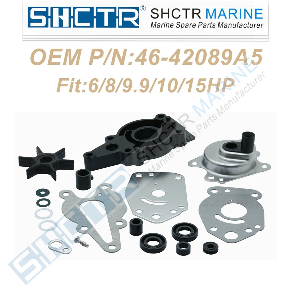 SHCTR Water Pump Repair Kit For 46-42089A5,6/8/9.9/10/15HP