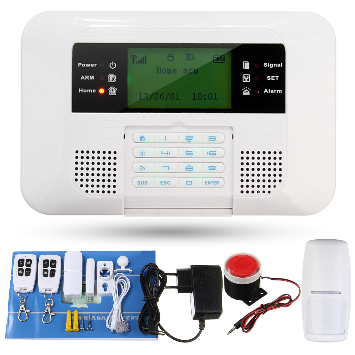 Wireless GSM Burglar Alarm System Smart Home Garage Detector Motion Sensor Voice Security Protection Auto Dial DIY Alarm System