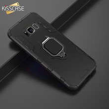 KISSCASE Fashion Holder Stand Case For Samsung Galaxy S10 S9 S8 Plus Shockproof J6 A6 A9 2018 Fundas Capa