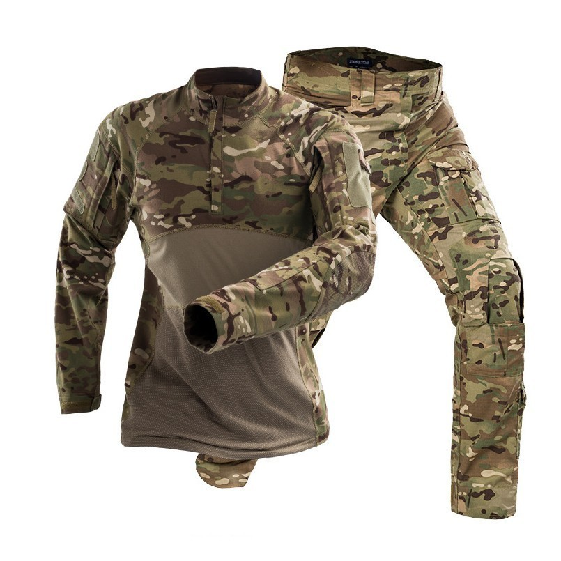 Pro Outdoor Tattico Militare Di Combattimento Escursione Di Campeggio Di Sport Uniforme Di Formazione Di Combattimento Dell'esercito Tuta Mimetica Camicia + Pantaloni Abbigliamento