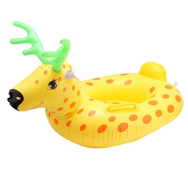 Kids Cartoon Dier Zwemmen Ring Veiligheid Opblaasbare Float Cirkel Matras voor Strand Outdoor Grappig Speelgoed voor Kinderen