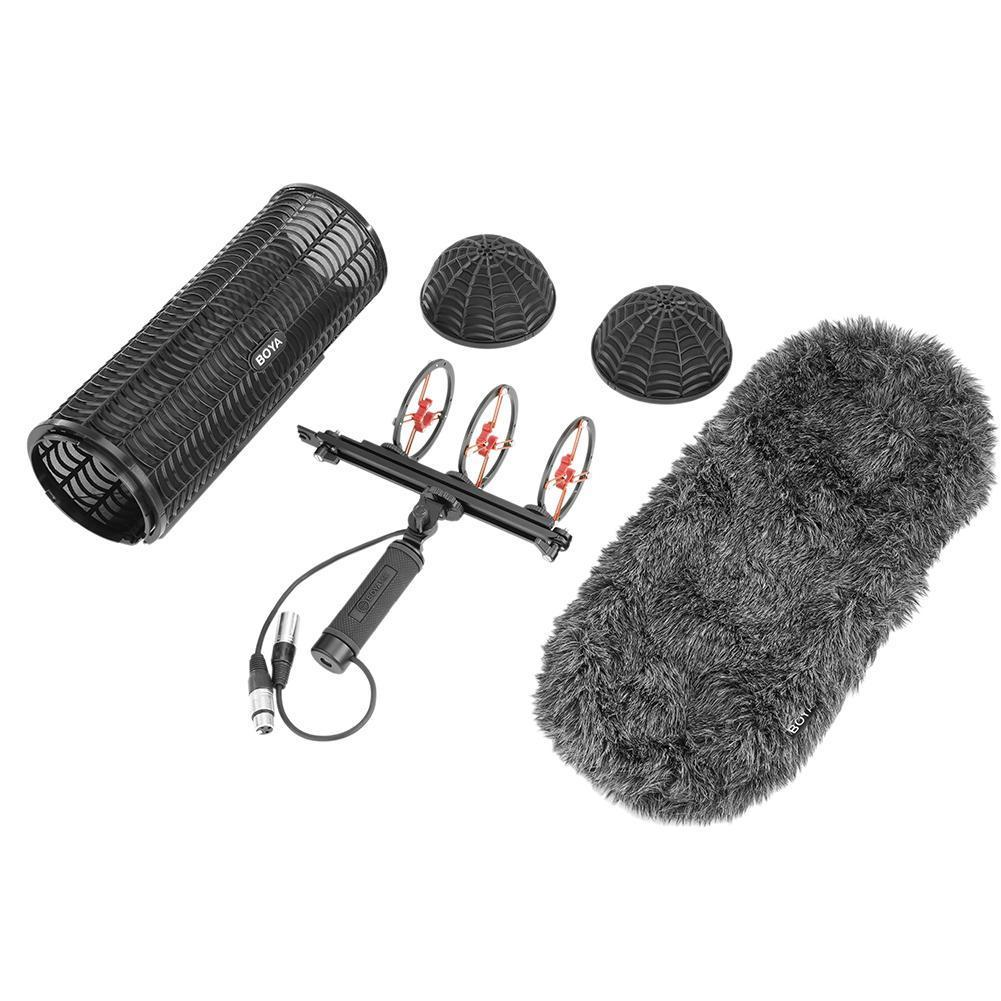 Boya By-Ws1000 Blimp Windshield & Suspension For Shotguns Microphones Cage Handle Shock Absorber Wind Sweater Mic CableBoya By-Ws1000 Blimp Windshield & Suspension For Shotguns Microphones Cage Handle Shock Absorber Wind Sweater Mic Cable