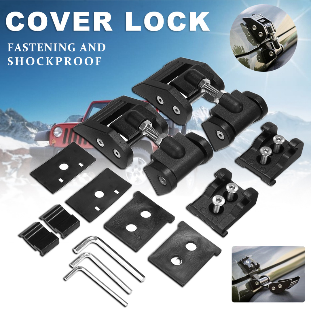 Aluminium Alloy Engine Hood Latch Lock Catches Kits For Jeep Wrangler JK Unlimited Rubicon 2007 2017-in Locks & Hardware from Automobiles & Motorcycles    2