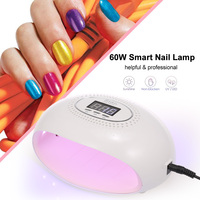 60W Star 3 Smart Nail Lamp Dryer LED UV Nail Dryer Curing Lamp Professional Nail Gel Curing Tool 60 W Nail Lamp