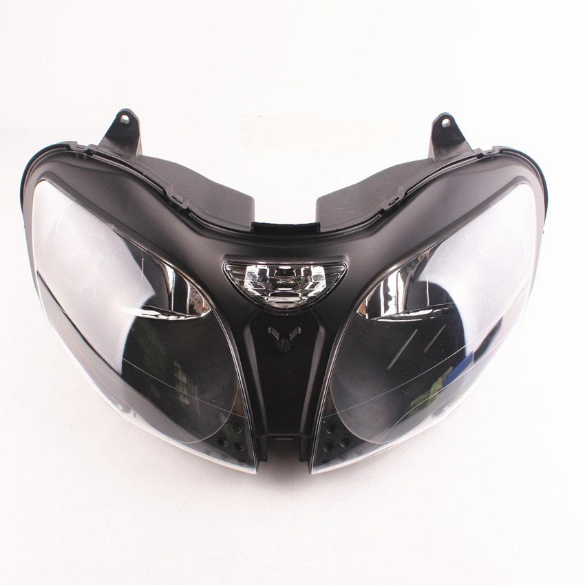 Assembly For Kawasaki ZX9R 2000 2001 2002 2003 ZX6R 2000 2001 2002 Motorcycle Front Headlight Head Lamp Clear|  - title=