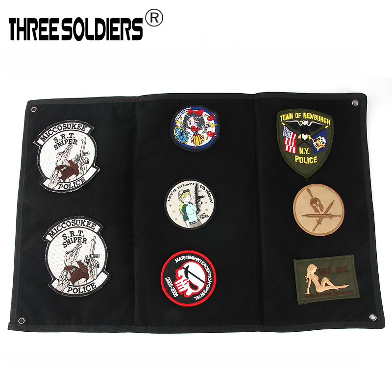 Military Patch Baord DIY Morale Patch Display Frame Tactical Cloth Patch Holder Board Chapter Paste Pad Hunting Accessories