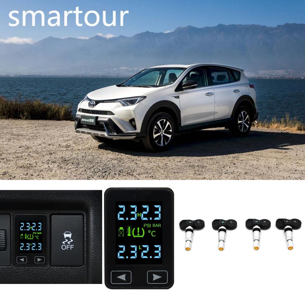 Smartour Special Car TPMS Tyre Pressure Monitoring System Car Tyre Pressure Alarm System For Toyota RAV4