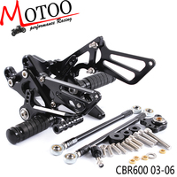 Motoo Full CNC Aluminum Motorcycle Adjustable Rearsets Rear Sets Foot Pegs For HONDA CBR600RR CBR 600RR CBR 600 RR 2003 2006