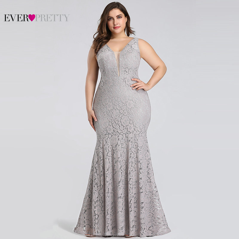 2019 New Style Lace Mermaid Prom Dresses Long 2019 Ever Pretty Ep08838 Christmas Holiday Party Sexy V-neck Elegant Prom Gala Dresses Gowns Prom Dresses