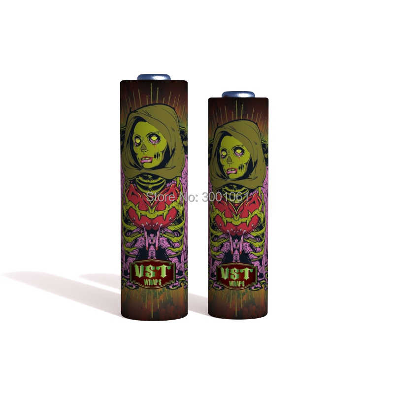 Electronic Cigarette Accessories Zombi 18650 Battery Sticker 18650 Battery Wraps Protective Cover Skin for MOD Vaporizer