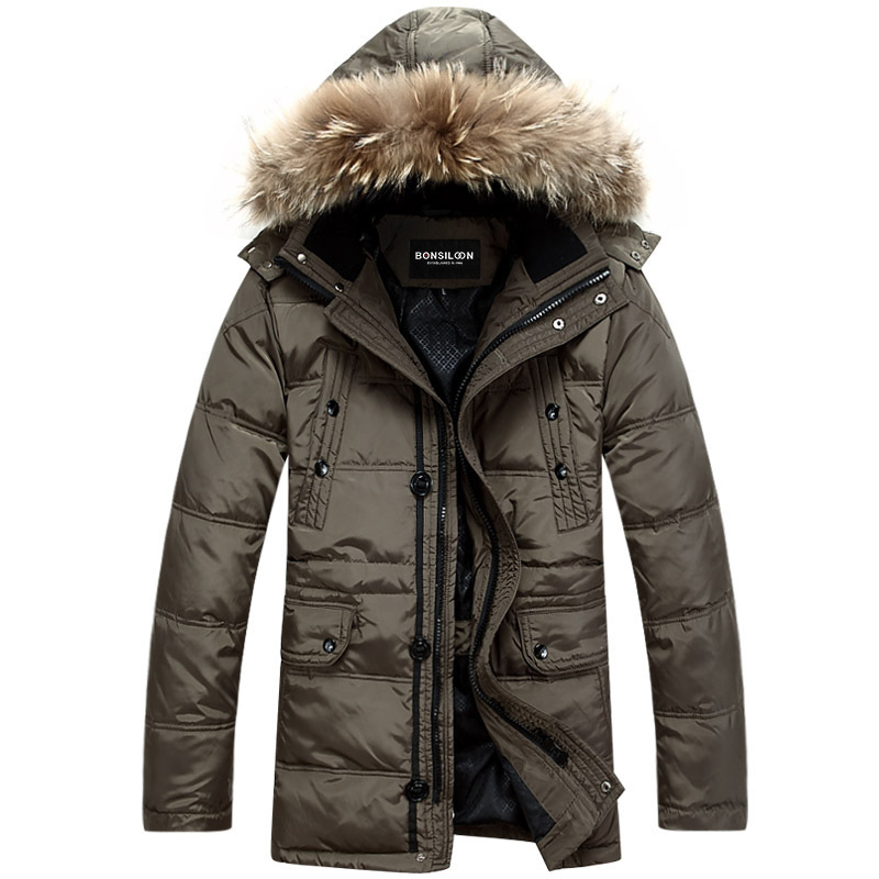 Winter long down parkas jacket Men\'s Down & Parka ...