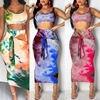 2-Piece Tie Dye Tank Cami & Skirt