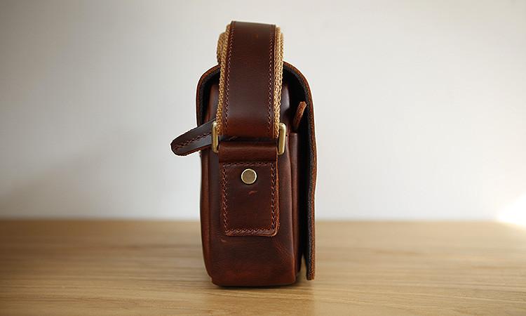 LAN free shipping leisure men s leather shoulder bag distressed bag ... fe9c697bbdbf8