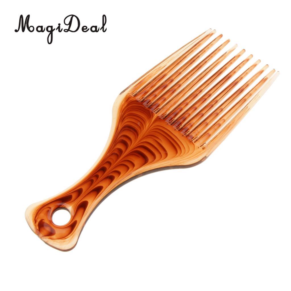 MagiDeal Profissional Grau de Alta Qualidade Escolha de Cabelo Afro Pick Perucas Extensões de Cabelo Styling Pik Cabelo Liso Ferramenta Cabelo Escolha Pick Paralisia barba