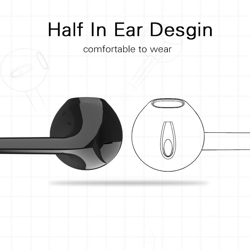 Bl6 Bluetooth Earphones Auriculares Bluetooth Headset Wireless Headphones For Phone Half In ear Bluetooth Earphone for phone in Bluetooth Earphones Headphones from Consumer Electronics