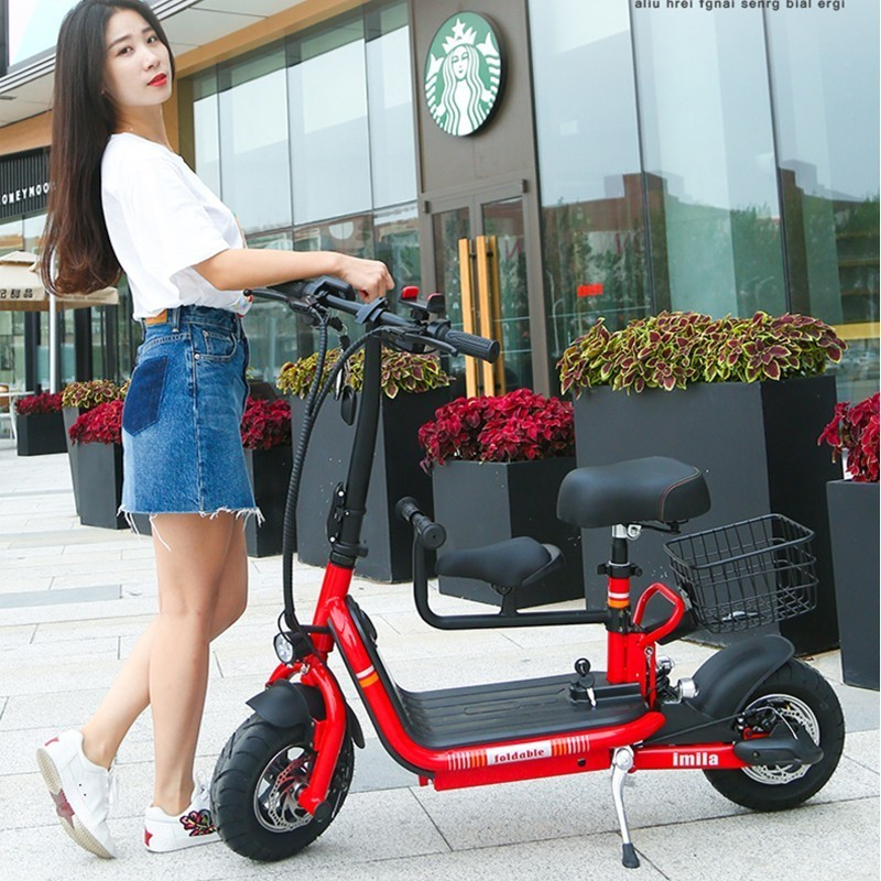Folding electric bicycle lithium battery moped mini adult battery car men and women small electric carFolding electric bicycle lithium battery moped mini adult battery car men and women small electric car