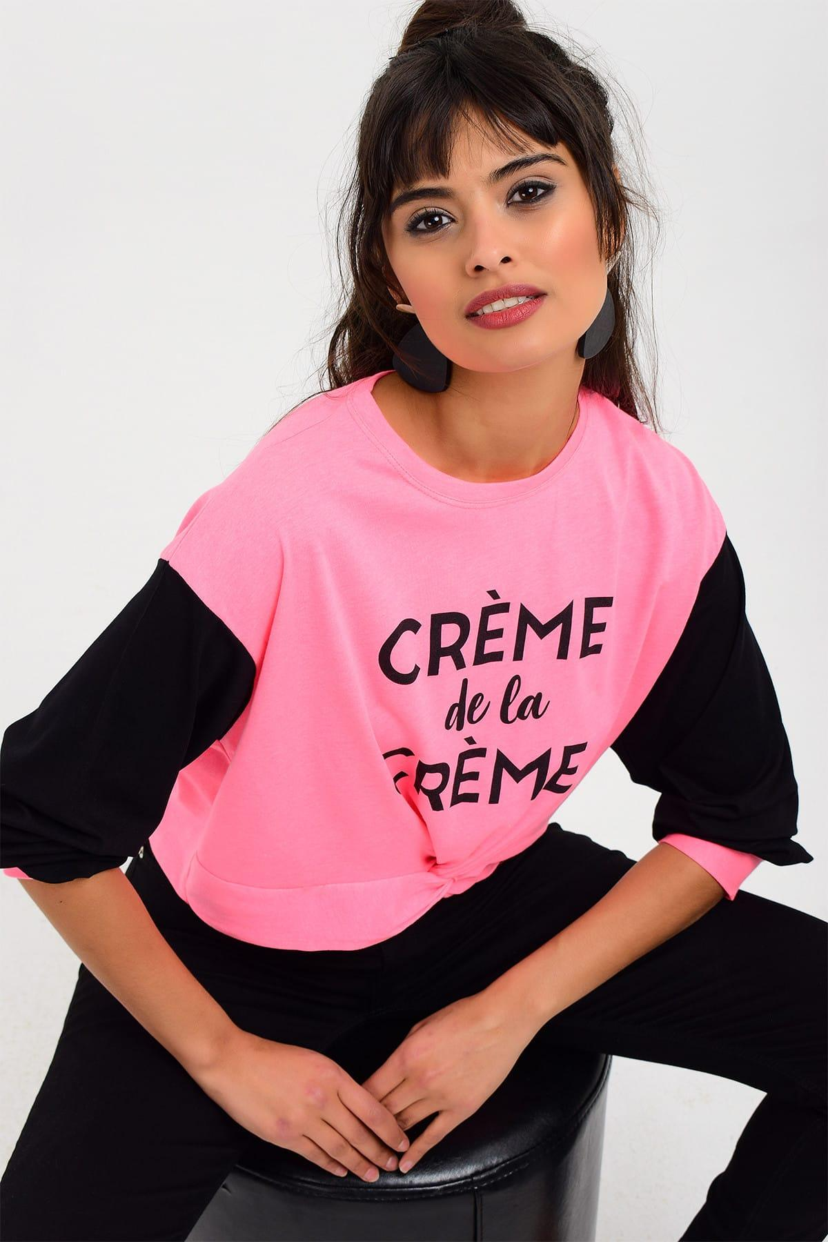 Women's Clothing Cool & Sexy Women Pink Contrast Neon Sweatshirt Dy2654 Perfect In Workmanship