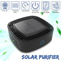 Solar Energy Car Air Purifier Car Use Ionizer Air Cleaner Anion Freshner PM2.5 Lowest Noise High Speed Purify Vehicle Appliances