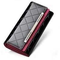 Luxury Brand Genuine Leather Wallet Women Wallets Ladies Long Money Purses Coin Pocket Card Holder Clutch Bag Carteira Feminina