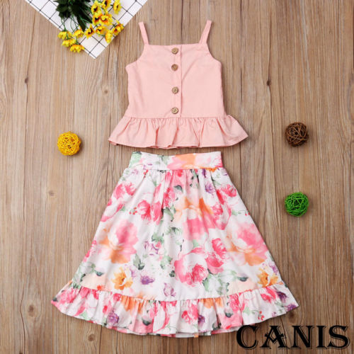Toddler Kid Baby Girl Clothes Strap Blouse Tops Floral Skirt Dress Outfit Children Set Clothes-in Clothing Sets from Mother & Kids on Aliexpress.com   Alibaba Group
