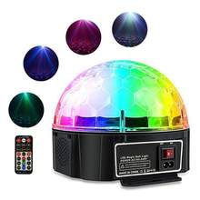 Disco DJ Party Bluetooth Speakers Party Stage Effect Lighting Ball speaker cool led bass stereo loudspeaker support mo3 u disk(China)