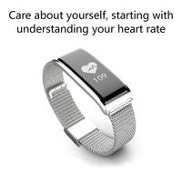 2018 Metal Steel Band Heart Rate Monitoring Smart Wristband Bluetooth Waterproof Step Counting Sports Bracelet