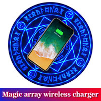 Qi Wireless Charger Magic Circle Wireless Fast Charging Pad for iPhone X XS Max Samsung S9 Xiaomi Redmi Huawei P20 Mate 20 Honor