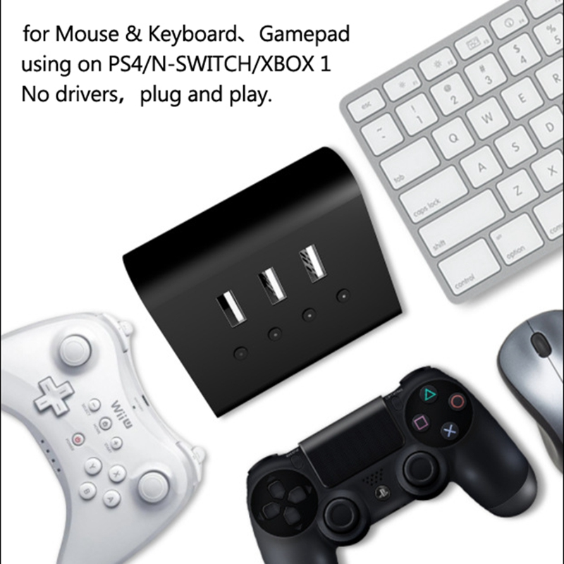 WINBOX P1 Wireless Mouse Converter for Playstation4 PS4 for Switch for X1 for PC Gamepad Keyboard Mouse Converter Adapter USB