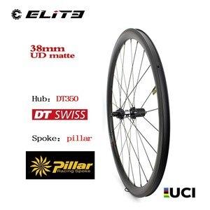 Image 1 - DT SWISS 350 פחמן סיבי כביש אופני זוג גלגלי 700C אופניים גלגל צינורי נימוק מכריע ללא פנימית עם 30 35 38 45 47 50 55 60 88mm רים