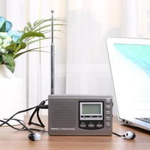 Radio-Receiver Fm-Radio Alarm-Clock Digital MW SW with Earphone Black