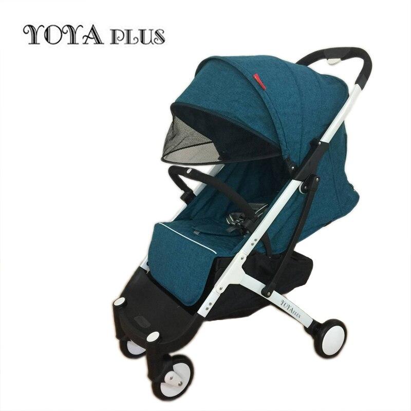Yoyaplus cochecito de bebé de la luz ultra-plegable puede sentarse puede mentir de paisaje paraguas carrito de bebé verano y de invierno