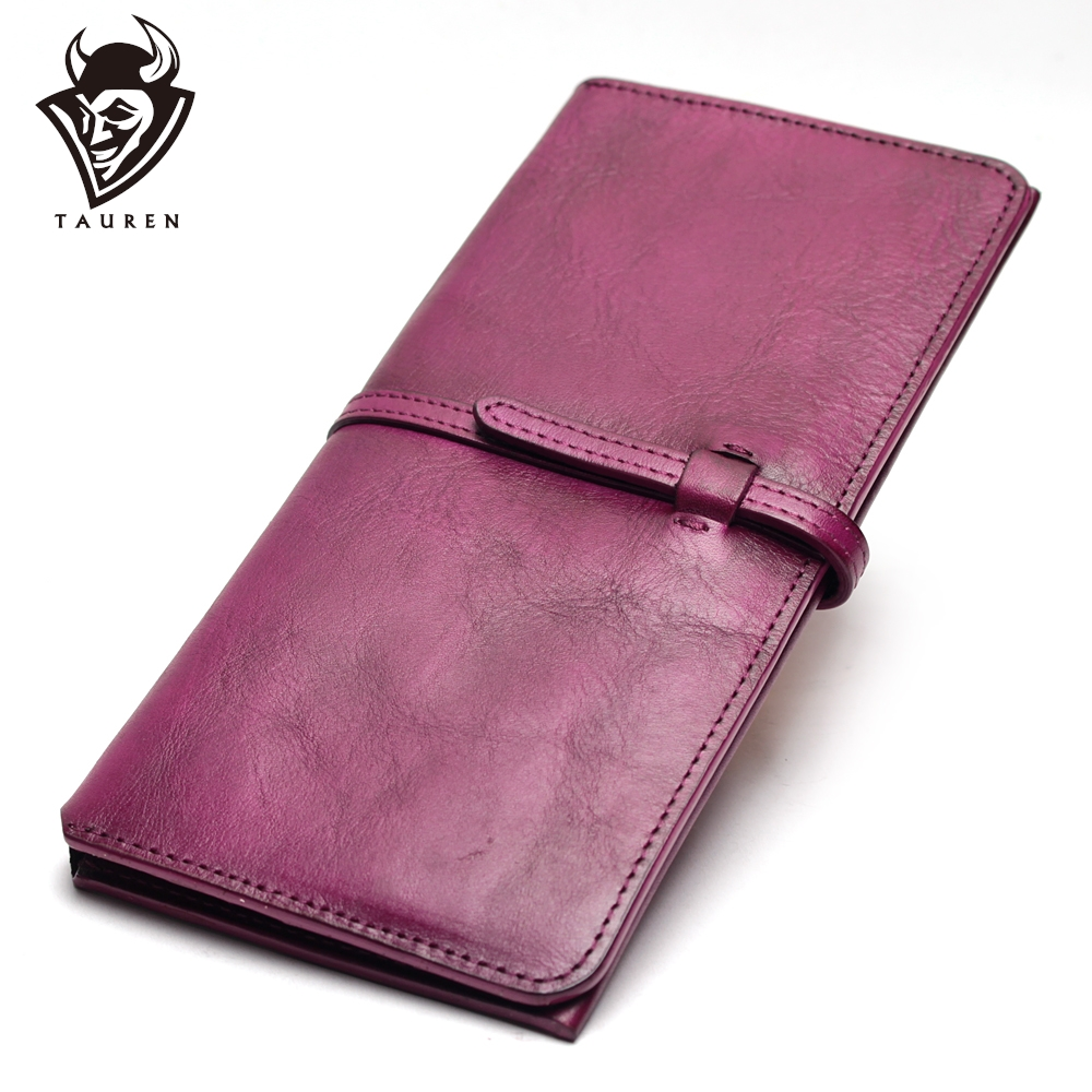 Women Thin Wallet Ladies Natural Leather Popular Clutches Genuine Leather Young Girls Simple Purse