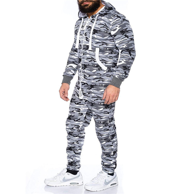 Game Men/'s Tracksuit Camouflage Suit Set Army Trackies Tracksuit
