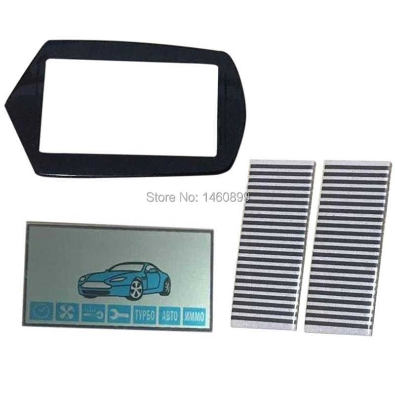 Wholesale A91 flexible cable A91 LCD display + keychain Glass Case for StarLine A91 lcd remote control with Zebra Stripes Paper