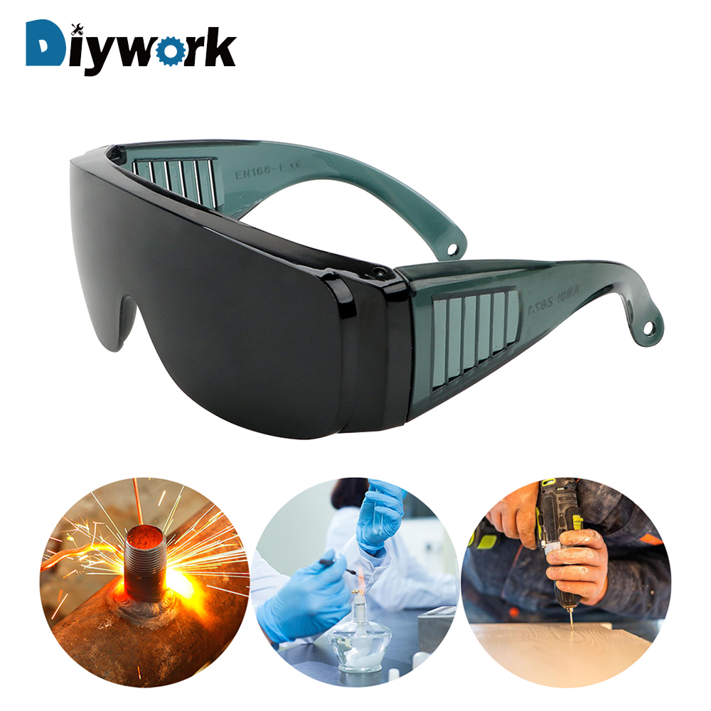 DIYWORK Industrial Protective Safety Glasses Protector Cover Windproof Anti-Fog Spectacles Resistant Safe Goggles