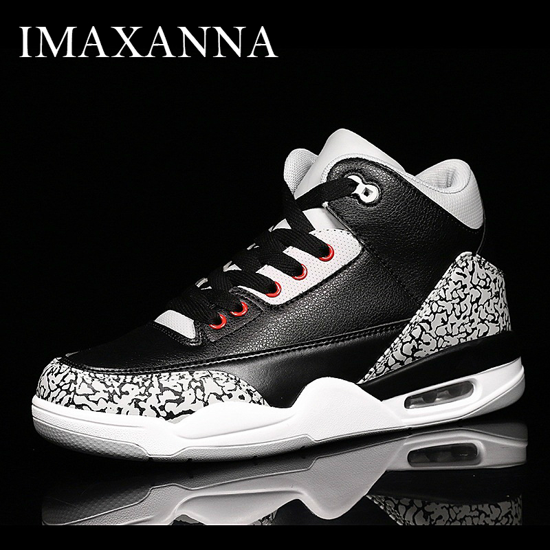 IMAXANNA New Mens High Top Basketball Shoes Rubber Sole Air Outdoor Athletic Male Sports Shoes Fashion Basketball Sneakers ManIMAXANNA New Mens High Top Basketball Shoes Rubber Sole Air Outdoor Athletic Male Sports Shoes Fashion Basketball Sneakers Man