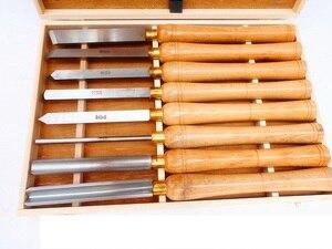 Image 5 - Новый токарный инструмент 8 видов HSS для деревообработки, набор долот, токарный нож, токарные инструменты для дерева